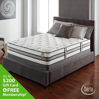 Serta iseries vantage firm low profile mattress set full for Serta iseries