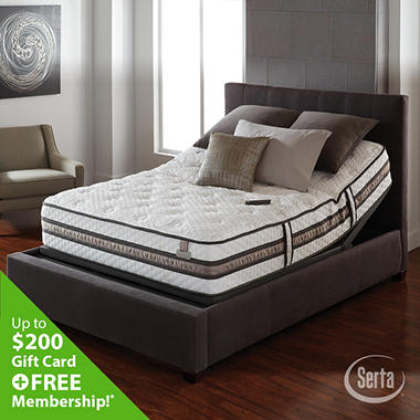 Serta iSeries Vantage Firm Motion Signature Adjustable Foundation Mattress Set - Queen
