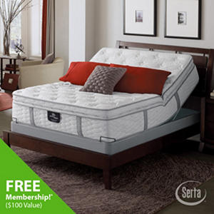 Serta Perfect Sleeper Ridgemont Luxury Super Pillowtop Mattresses and Adjustable Foundation Sets (Various Sizes)