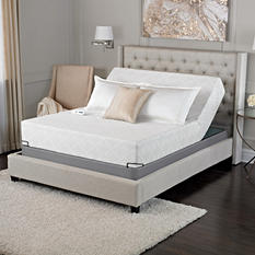 "Serta Sleep Excellence Avesta 10"" Cushion Firm Premium Gel Memory Foam Mattress with Adjustable Foundation Sets (Various Sizes)"