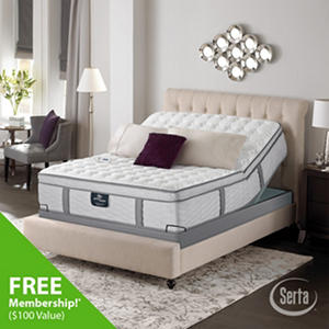 Serta Perfect Sleeper Misthaven Plush Mega Eurotop Adjustable Mattress Set