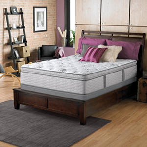 Serta Perfect Sleeper Dunway Plush Super Pillowtop Queen Mattress Set