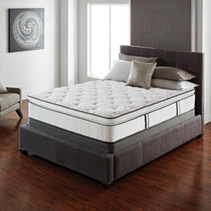 Serta Lux Suite Pillow Top Cal King Mattress Set