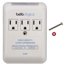 Bell'O Digital 3-Outlet In Wall Appliance Surge Protector