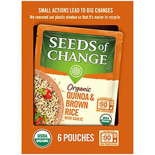 Seeds of Change Organic Quinoa and Brown Rice with Garlic (8.5 oz., 6 ct.)