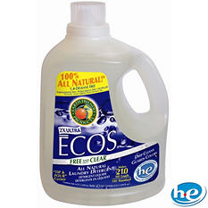 Ecos Liquid Laundry Detergent Free and Clear - 2 ct. - 210 oz. ea. - 420 loads