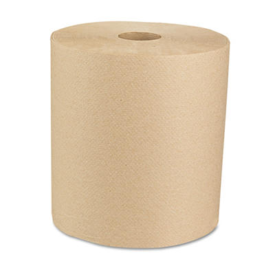 Boardwalk - Economy Recycled Hardwound Paper Towels, 1-Ply, 800 ft, Brown - 6 Rolls
