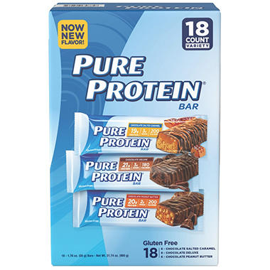 Pure Protein Bar Variety Pack  (1.76oz,18 bars)