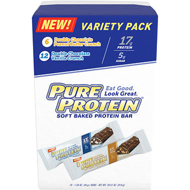 Pure Protein Bakery Bars Variety Pack - 28.57 oz. - 18 ct.