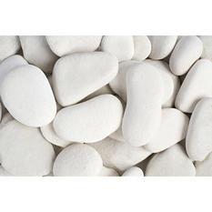 30 lb. Large Flat Egg Rock Caribbean Beach Pebble 3-5in.