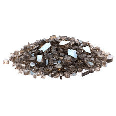 10 lb. Bronze Reflective Tempered Fire Glass