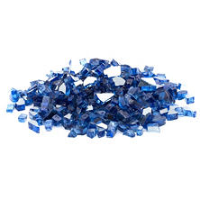 25 lb. Cobalt Blue Reflective Tempered Fire Glass