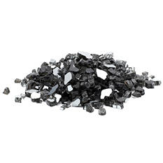 25 lb. Black Reflective Tempered Fire Glass