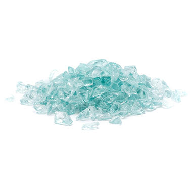 2 lb. Small Aqua Landscape Glass