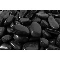 30 lb. Small Black Super Polished Pebble .5-1.5in.