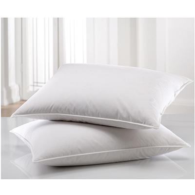 """Hotel Luxury Soft Cotton 550 Fill Power Down Pillow 20"""" x 20"""""""