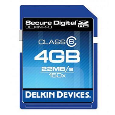 Delkin 4GB Class 6 SDHC Memory Card - 150X