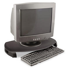 Kantek - CRT/LCD Stand with Keyboard Storage, 23 x 13 1/4 x 3 -  Black