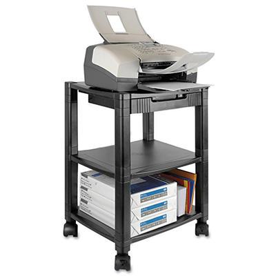 Kantek - Mobile Printer Stand, Three-Shelf, 17w x 13-1/4d x 24-1/4h -  Black