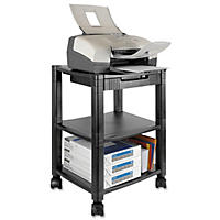 Kantek - Mobile Printer Stand, Three-Shelf, 17w x 13-1/4d x 24-1/4h -  Black