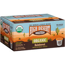 High Desert Roasters Organic Rainforest Medium Roast Coffee (80 K-Cups)