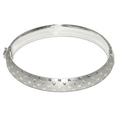 Sterling Silver Diamond Cut Bangle