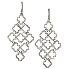 Sterling Silver Kite Shaped Drop Earrings