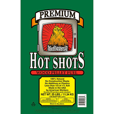 Hot Shots� Premium Wood Pellet Fuel - 25 lbs.