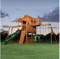 Skyfort II Cedar Play Set w/ Slide