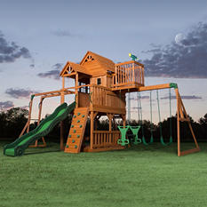 Skyfort II Cedar Swing Set / Play Set with Slide