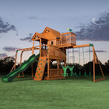 Skyfort II Cedar Swing Set/Play Set with Slide