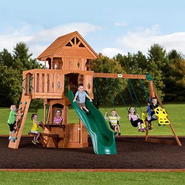 Woodland Cedar Swingset Sam S Club