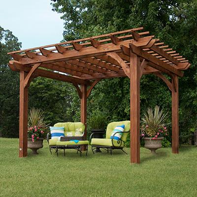 10' x 12' Cedar Pergola