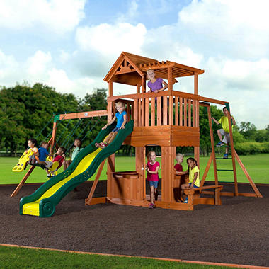 Buy Backyard Discovery Skyfort II All Cedar Wood Swing Set: Play & Swing Sets - marloslash.ml FREE DELIVERY possible on eligible purchases We purchased this same playscape from SAMs club. Our kids love it! I have 4 children under 11 and they all play on the it. My only complaint is the 3 swings are kind of close together/5().