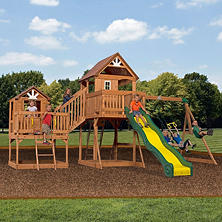 Leisure Time Malibu Cedar Swing Set