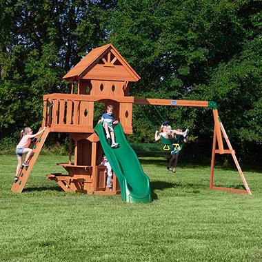 Woodland Cedar Swingset