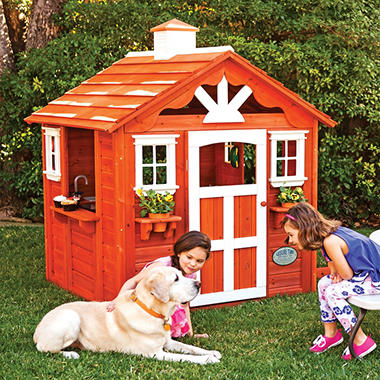 Summer Cottage Playhouse with Toys