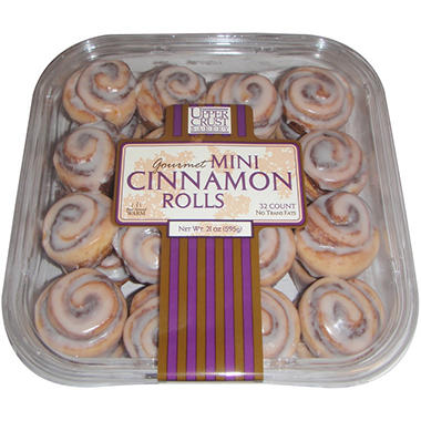 Upper Crust Gourmet Mini Cinnamon Rolls - 32 ct.