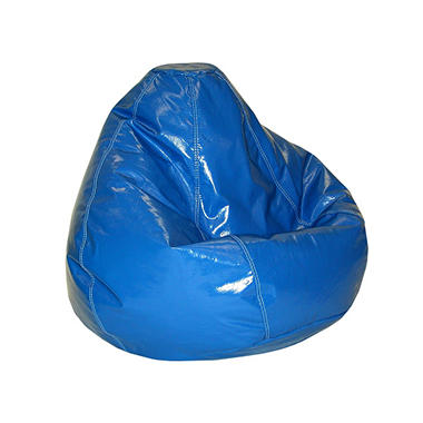 Bean Bag - Large - Wet Look Blue