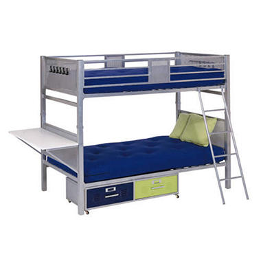 Locker Style Twin Bunk Bed With Storage Sam S Club