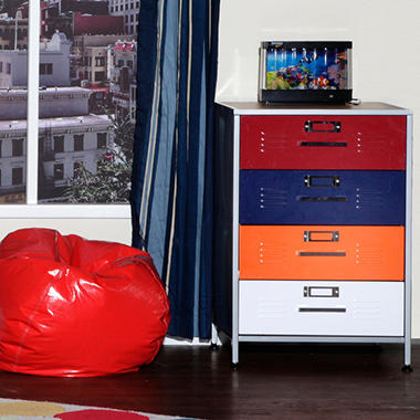 Locker Dresser with Mix-n-Match Drawer Faces