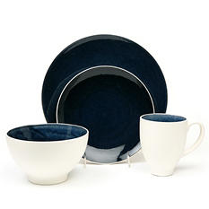 Crackle 32-Piece Cobalt Dinnerware Set
