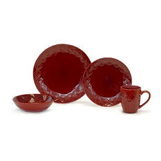 Medallion 32-Piece Cookware Red