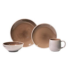 Beveled 32-Piece Dinnerware Set