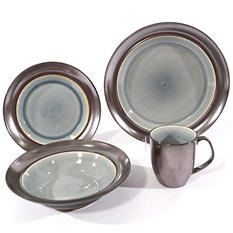 32-Piece Cosmo Gray Dinnerware Set