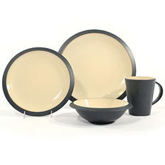 Metro 32-Piece Dinnerware Set Ivory