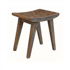 Coconut Stool With Chip Seat