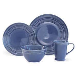 Baum 32-Piece Dots Blue Dinnerware Set