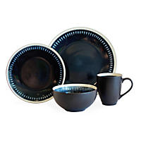 Baum 32-Piece Dash Blue Dinnerware Set