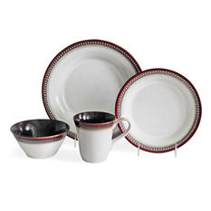 Baum 32-Piece Pearl Brick Dinnerware Set
